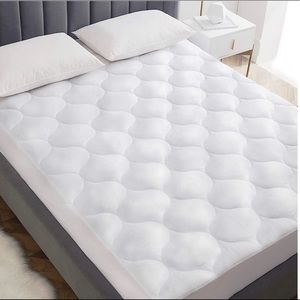 NEW Queen fitted sheet quilted mattress pad